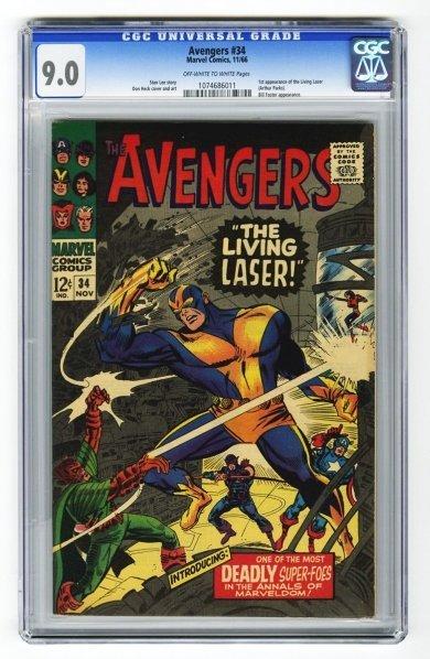 31: Avengers #34 CGC 9.0 Marvel Comics 11/66.