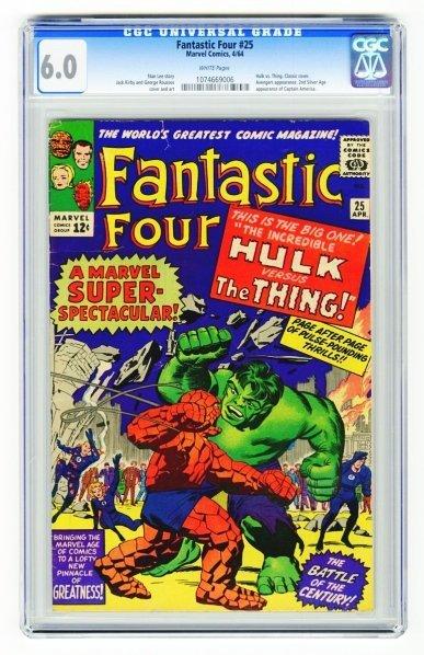 33: Fantastic Four #25 CGC 6.0 Marvel Comics 4/64.