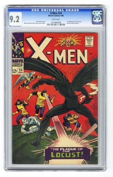 34: X-Men #24 CGC 9.2 Marvel Comics 9/66.