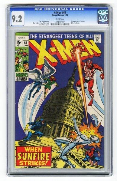 35: X-Men #64 CGC 9.2 Marvel Comics 1/70.