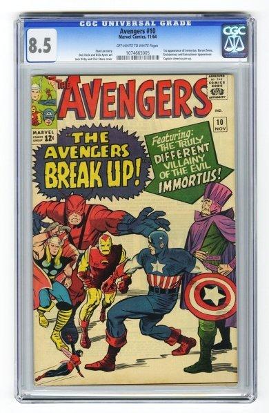 36: Avengers #10 CGC 8.5 Marvel Comics 11/64.