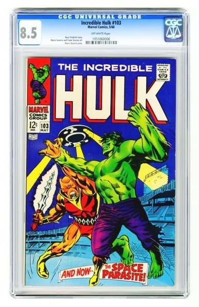 37: Incredible Hulk #103 CGC 8.5 Marvel Comics 5/68.