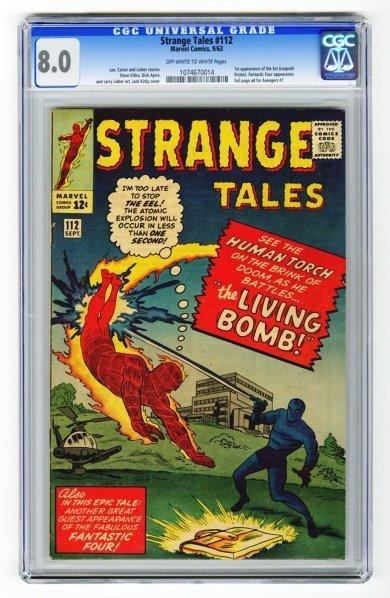38: Strange Tales #112 CGC 8.0 Marvel Comics 9/63.