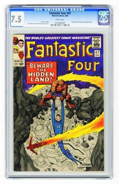 39: Fantastic Four #47 CGC 7.5 Marvel Comics 2/66.