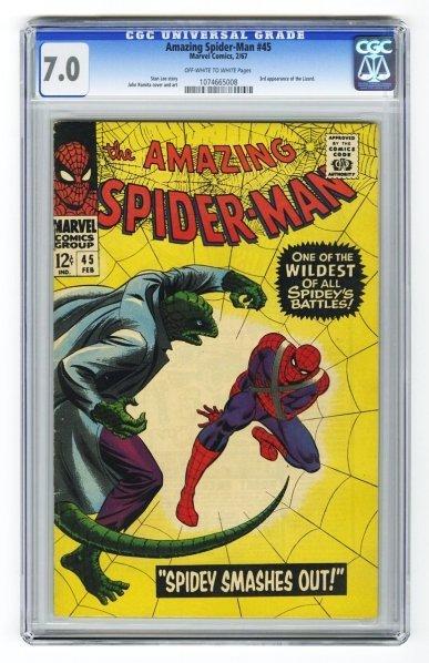 40: Amazing Spider-Man #45 CGC 7.0 Marvel Comics.