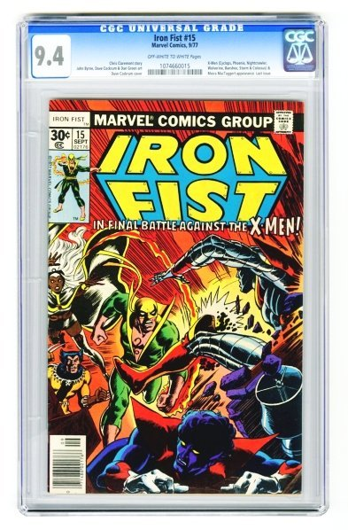43: Iron Fist #15 CGC 9.4 Marvel Comics 9/77.