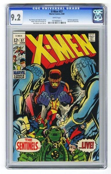 44: X-Men #57 CGC 9.2 Marvel Comics 6/69.