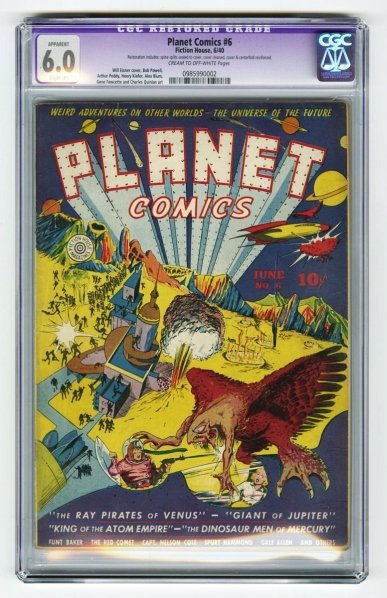 45: Planet Comics #6 CGC 6.0 Fiction House 6/40.