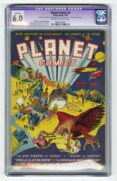 45: Planet Comics #6 CGC 6.0 Fiction House 6/40.
