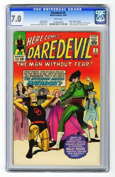 46: Daredevil #5 CGC 7.0 Marvel Comics 12/64.