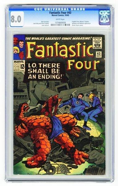 47: Fantastic Four #43 CGC 8.0 Marvel Comics 10/65.
