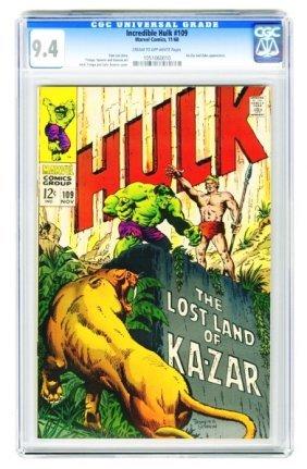 Incredible Hulk #109 CGC 9.4 Marvel Comics 11/68.