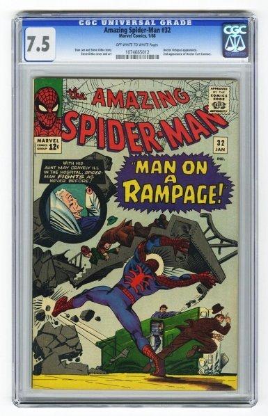 49: Amazing Spider-Man #32 CGC 7.5 Marvel Comics.