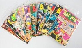 Lot Of 12: 1960s Batman Comics.