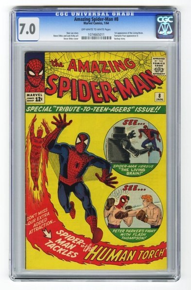 57: Amazing Spider-Man #8 CGC 7.0 Marvel Comics 1/64.