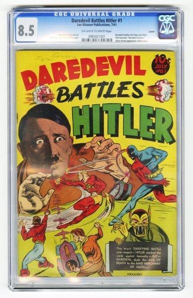 60: Daredevil Battles Hitler #1 CGC 8.5.