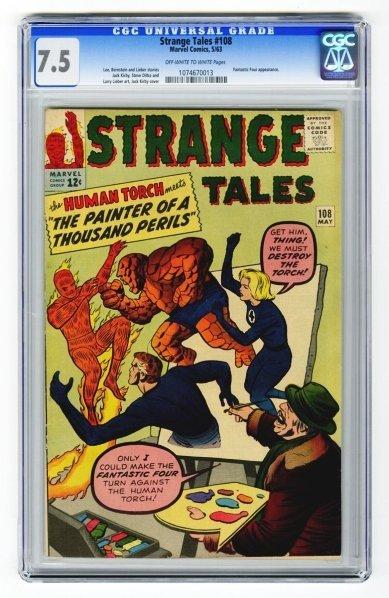 62: Strange Tales #108 CGC 7.5 Marvel Comics 5/63.