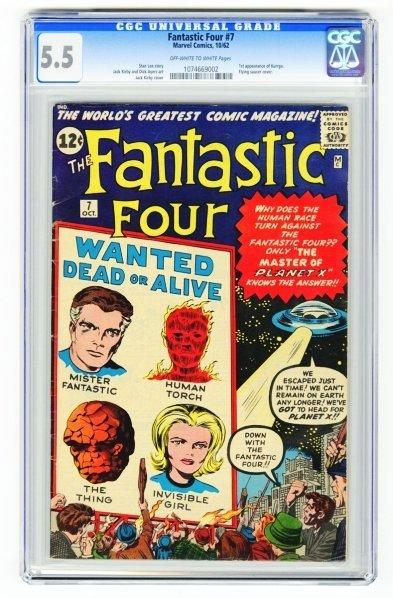 64: Fantastic Four #7 CGC 5.5 Marvel Comics 10/62.