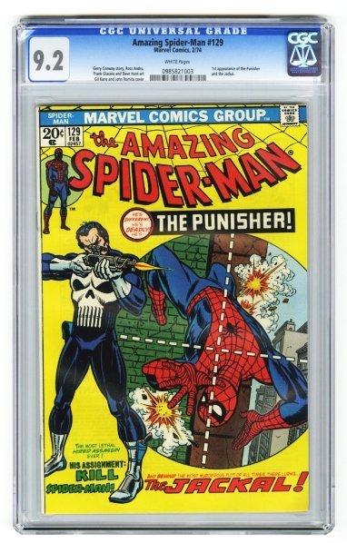 65: Amazing Spider-Man #129 CGC 9.2 Marvel Comics.