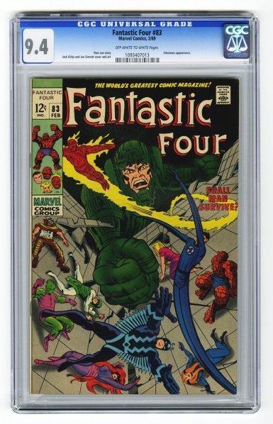 66: Fantastic Four #83 CGC 9.4 Marvel Comics 2/69.