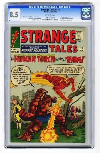 67: Strange Tales #116 CGC 8.5 Marvel Comics 1/64.