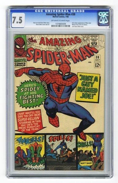 68: Amazing Spider-Man #38 CGC 7.5 Marvel Comics.