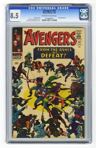 69: Avengers #24 CGC 8.5 Marvel Comics 1/66.
