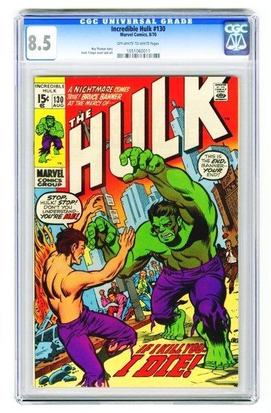 71: Incredible Hulk #130 CGC 8.5 Marvel Comics 8/70.