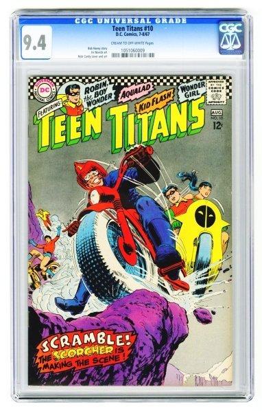 75: Teen Titans #10 CGC 9.4 D.C. Comics 7-8/67.