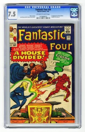 Fantastic Four #34 CGC 7.5 Marvel Comics 1/65.