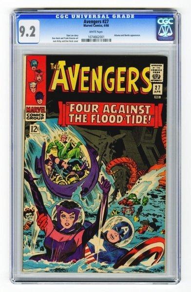 100: Avengers #27 CGC 9.2 Marvel Comics 4/66.