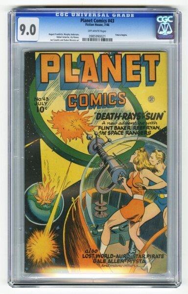 101: Planet Comics #43 CGC 9.0 Fiction House 7/46.