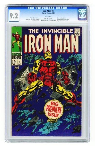 102: Iron Man #1 CGC 9.2 Marvel Comics 5/68.