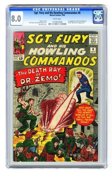 105: Sgt. Fury and His Howling Commandos #8 CGC 8.0.