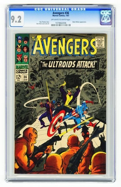 106: Avengers #36 CGC 9.2 Marvel Comics 1/67.