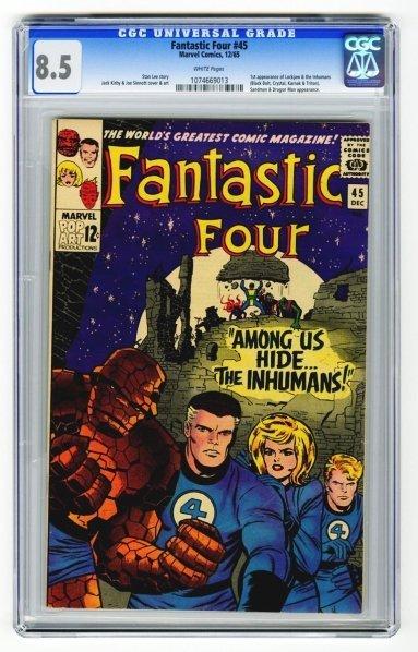 107: Fantastic Four #45 CGC 8.5 Marvel Comics 12/65.