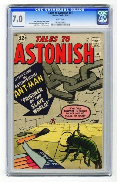 109: Tales to Astonish #41 CGC 7.0 Marvel Comics 3/63.