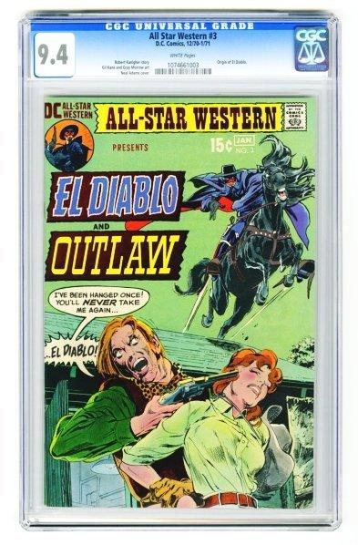 110: All Star Western #3 CGC 9.4 D.C. Comics.