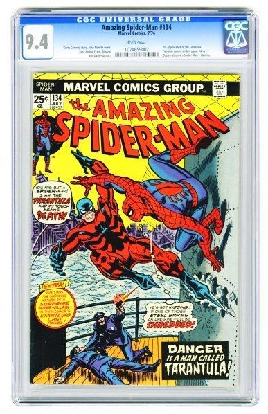 111: Amazing Spider-Man #134 CGC 9.4 Marvel Comics.