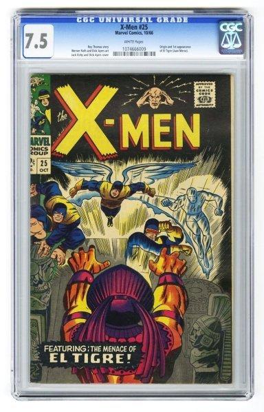 112: X-Men #25 CGC 7.5 Marvel Comics 10/66.