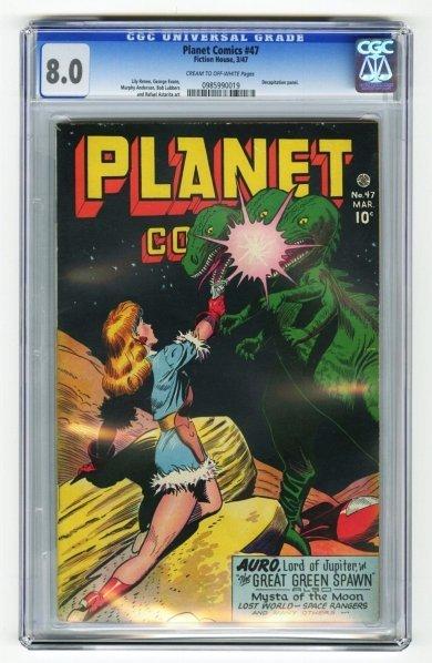 114: Planet Comics #47 CGC 8.0 Fiction House 3/47.