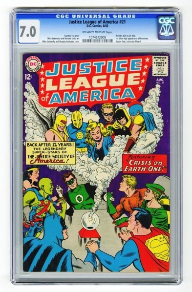 115: Justice League of America #21 CGC 7.0.