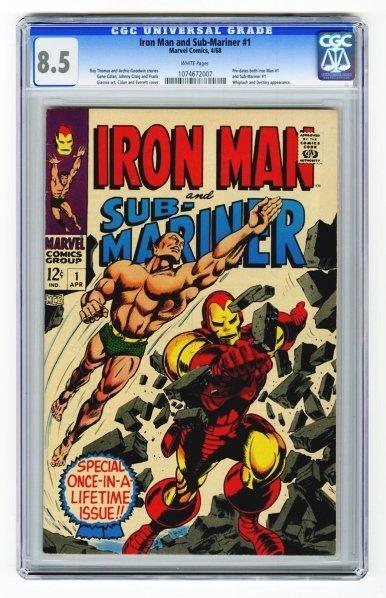 116: Iron Man and Sub-Mariner #1 CGC 8.5.