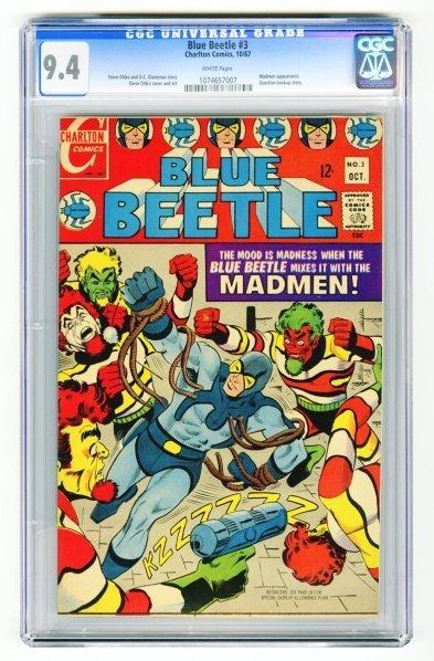 117: Blue Beetle #3 CGC 9.4 Charlton Comics 10/67.