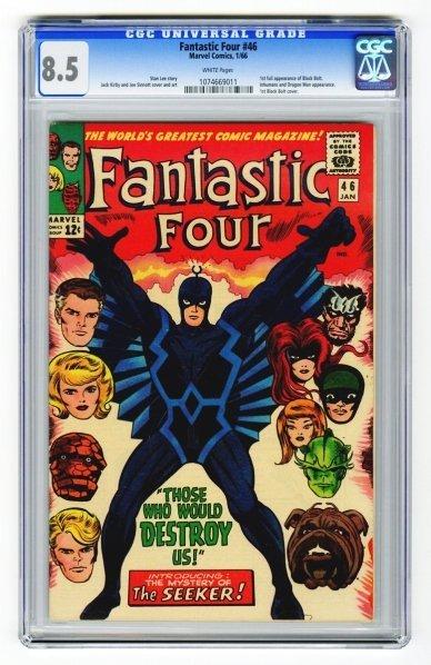 118: Fantastic Four #46 CGC 8.5 Marvel Comics 1/66.
