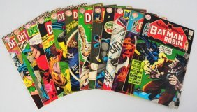 Lot Of 12: 1960s Detective Comic Books.