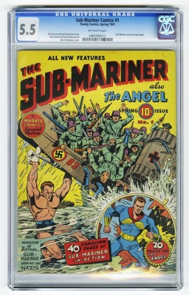 130: Sub-Mariner Comics #1 CGC 5.5 Timely Comics.