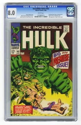 Incredible Hulk #102 CGC 8.0 Marvel Comics 4/68.