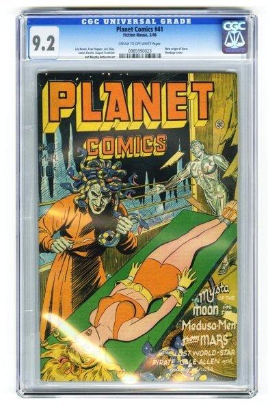 146: Planet Comics #41 CGC 9.2 Fiction House 3/46.