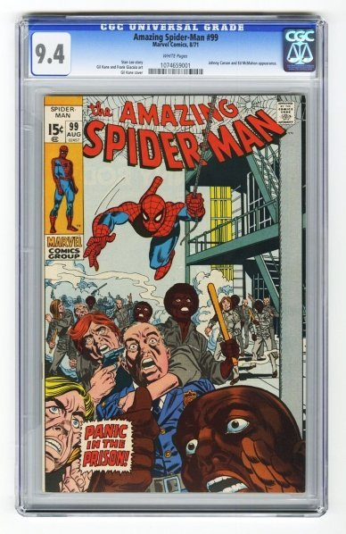 147: Amazing Spider-Man #99 CGC 9.4 Marvel Comics.